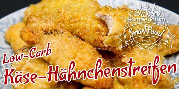Die Low-Carb Käse-Hähnchenstreifen sind schnell zubereitet und sicher genau so schnell wieder verputzt. Dieser Low-Carb Snack begeistert dich garantiert!