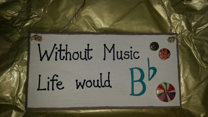 "Music teacher gift - ""without music, life would be flat"""