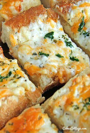 Bubbly Cheese Garlic Bread Recipe