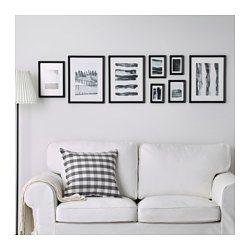 IKEA - KNOPPÄNG, Cornice con immagine, set di 8, La dima e le immagini coordinate incluse ti permettono di decorare la tua parete con un collage personalizzato.Pronto da appendere.Quando hai voglia di cambiare, puoi facilmente sostituire l'immagine all'interno della cornice.Puoi anche usare solo una parte della dima per creare collage più piccoli e appendere le immagini in modi diversi.Può contenere 8 fotografie, così puoi creare la combinazione che preferisci.La protezione...