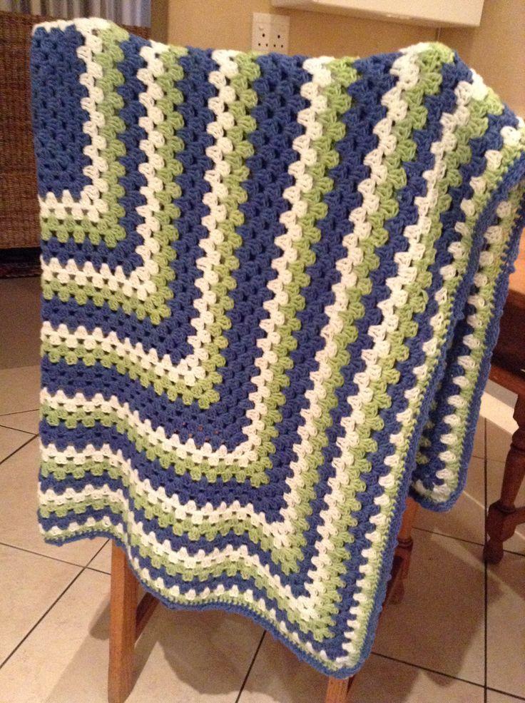 Crochet blanket Stork tea prezzie:-) By Kari