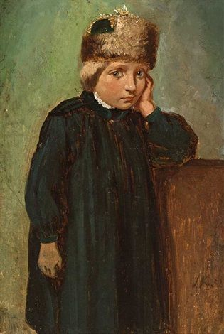 "Ludwig Knaus - ""Boy in Hessian costume from the Schwalm area at Ziegenhain"" also known as ""Knabe in hessischer Tracht aus der Schwalmgegend bei Ziegenhain"" 1852 