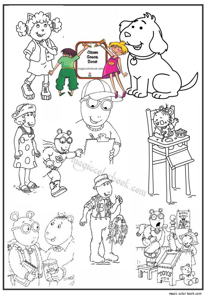 19 mejores imágenes de Arthur Coloring Pages en Pinterest | Hojas ...