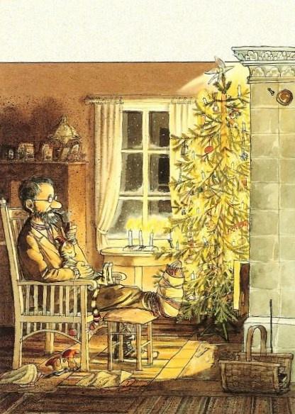 Pettersson kriegt Weihnachtsbesuch by Sven Nordqvist