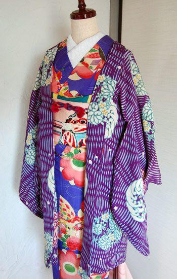 アンティーク着物【73】 : 独特な色遣いに一目惚れ!「アンティーク着物」コーディネートまとめ - NAVER まとめ