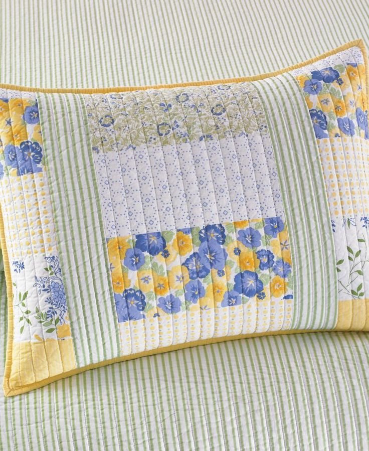 Martha Stewart Collection Blue Amp Yellow Patchwork Posey