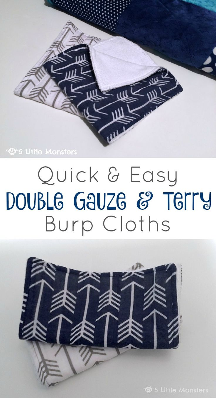 5 Little Monsters Quick And Easy Double Gauze And Terry