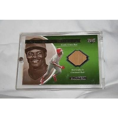MLB Ken Griffey Sr. 2001 Upper Deck A Piece of History Game-Used Bat Card KGs