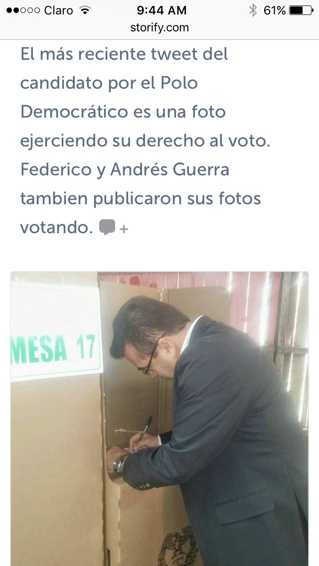 Olmedo López, fue un candidato poco activo en Twitter durante la jornada de elecciones. Aquí una parte del storify dedicada a los candidatos a la Gobernación de Antioquia.