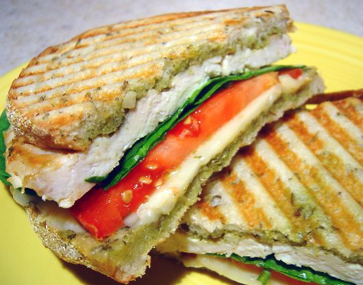Basil Lemon Chicken Panini Recipe - Food.com