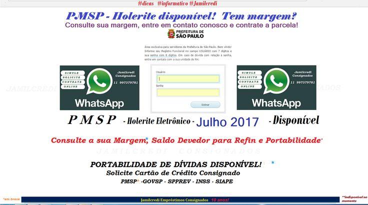 SERVIDOR DA PREFEITURA MUNICIPAL DE SÃO PAULO   A MARGEM VÁLIDA PARA EMPRÉSTIMO CONSIGNADO NOVO, REFIN OU PORTABILIDADE ESTÁ ATUA...