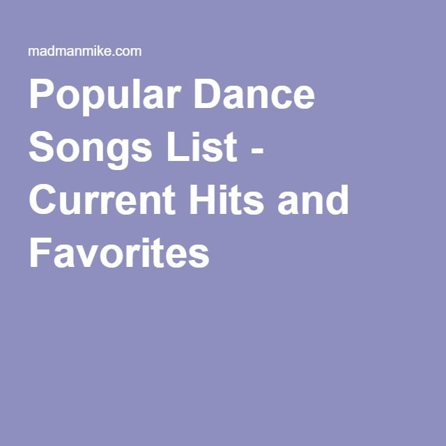 Popular Dance Songs List for Electric Slide - Current Hits and Favorites