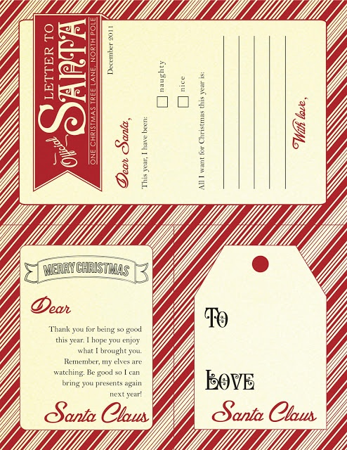 santa letters and tags