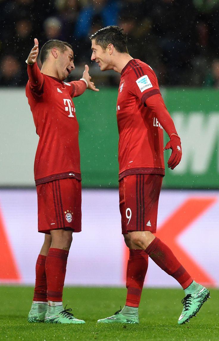 Thiago Alcantara and Robert Lewandowski.
