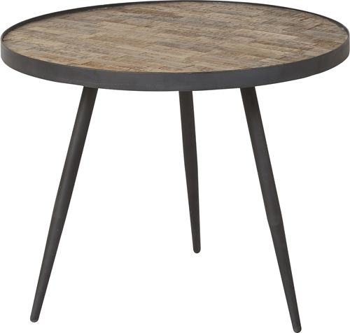 DORO Soffbord trä natur metall 60x60x46 - Stort utbud hos EM Home