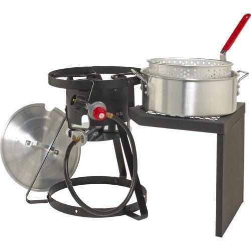Outdoor Fryer Set Gas Stove Propane Stand w/ Pot Basket Fish Fries Chicken Wings #GourmetPro