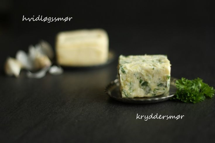 Hvidløgssmør og kryddersmør ♥ jegelskermad.dk