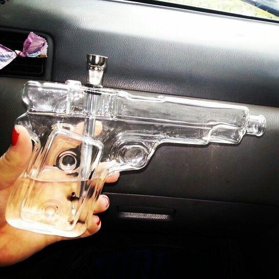 Glass gun bong <3 Amazing i love it so much :')