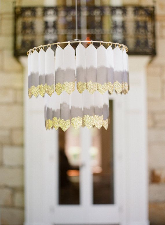 Gold Dipped Chandelier Photo By Hunter Harrison 100 Layer Cake