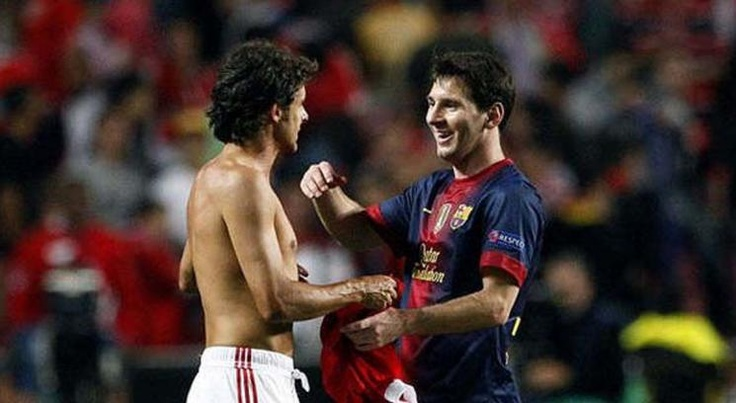Lionel Messi & Pablo Aimar // Benfica V FC Barcelona | Aimar proud to be one of Messi's idols