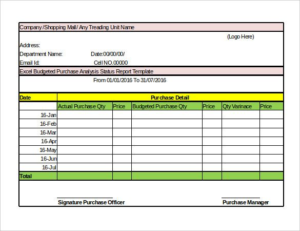 4 Mall Central Sales Report Templates Sales Report Template