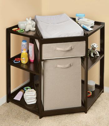 a better changing table. Who decided changing a baby from the side was a good idea?: Baby Idea, Baby Changing Tables, Better Changing, Good Idea, Corner Changing Tables, Future Baby, Baby Rooms, Spaces Savers, Decid Changing