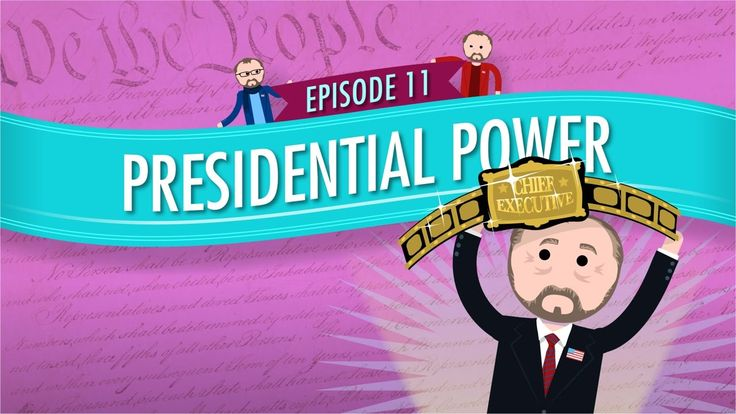 Presidential Power: Crash Course Government and Politics #11. Find Crash Course Government worksheets and discussion prompts / extra credit ideas to go with this episode, along with full answer keys, at https://www.teacherspayteachers.com/Product/Crash-Course-US-Government-Worksheets-Episodes-11-15-2049536