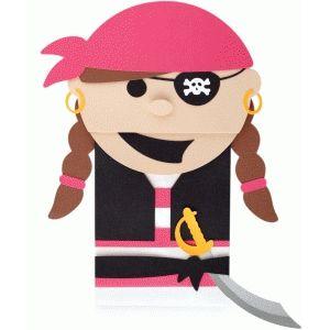 Silhouette Design Store - View Design # 55863: pirata della carta ragazza sacco di marionette
