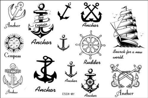 2012 latest new design new release Temporary Tattoo waterproof anchor nautical tattoo stickers by YiMei, http://www.amazon.com/dp/B009BNE8B4/ref=cm_sw_r_pi_dp_.x0Frb10RB0HY