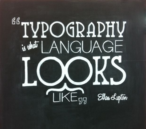 Typography is what language looks like. -Ellen Lupton