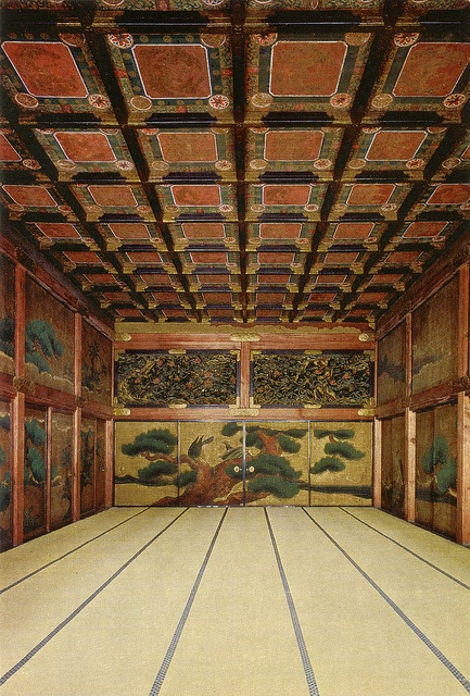 General view of the Ohiroma Fourth Chamber,Nijo Castle, Japan