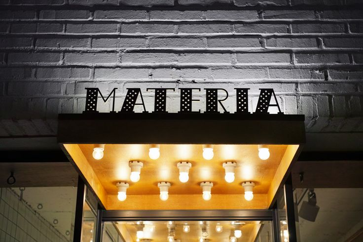 Signage for Materia designed by studio fnt.