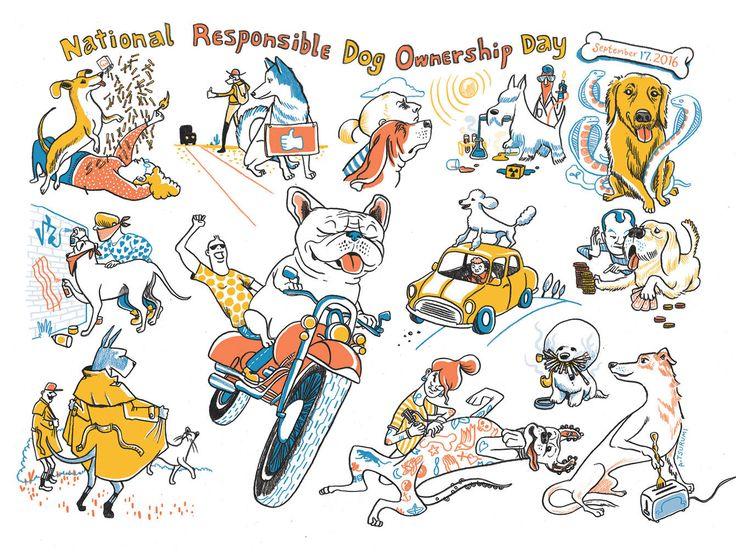 The Nib Calendar of Obscure Holidays - Andrea Tsurumi Illustration & Comics