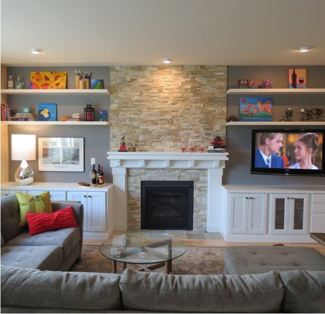 before and after lana carlenes beautiful living room makeover - Design Fireplace Wall