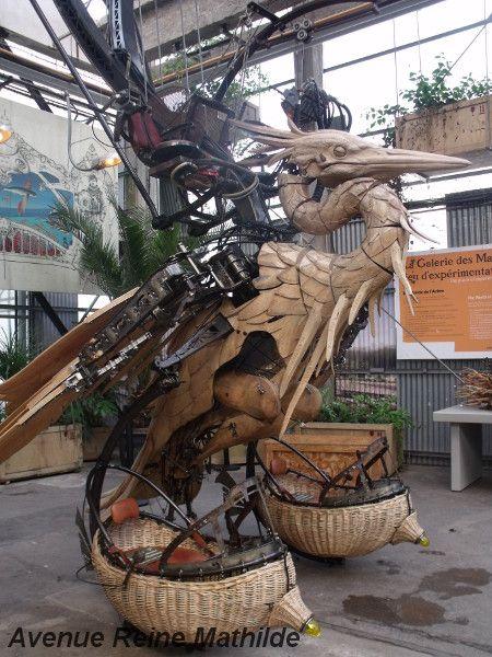 Le héron des machines de l'île, Nantes - crédit photo : avenue reine mathilde