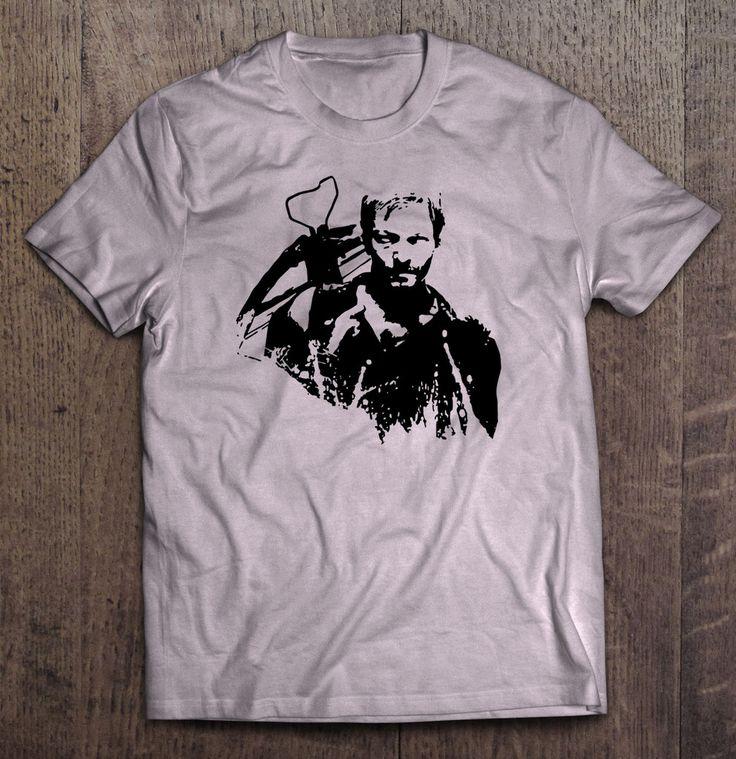 The Walking Dead - Daryl Dixon Stencil T Shirt