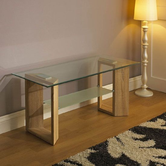 10 best console tables images on pinterest console tables illuminate your with clear glass as perfect new piece of its perfect oak finish and class glass top makes it durable as well as lamp table aloadofball Choice Image