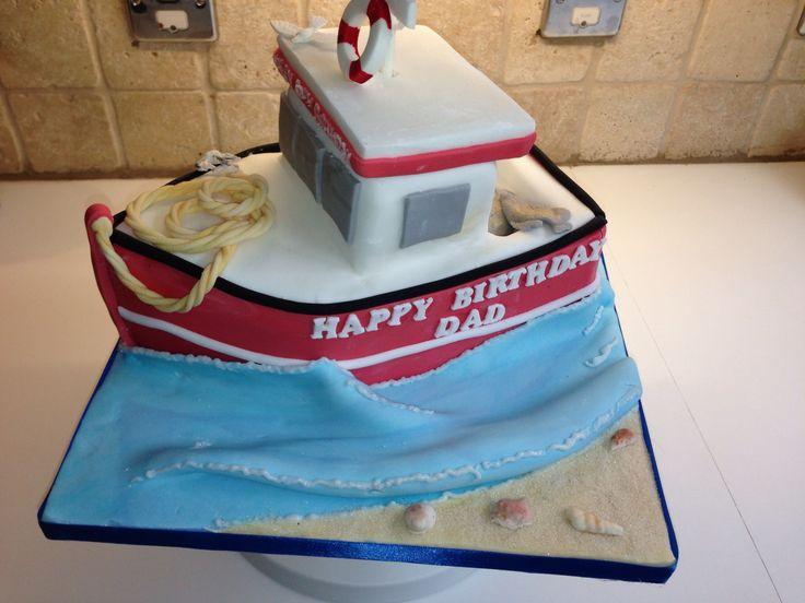 Best Fishing Images On Pinterest Fishing Cakes Boat Cake And - Boat birthday cake ideas