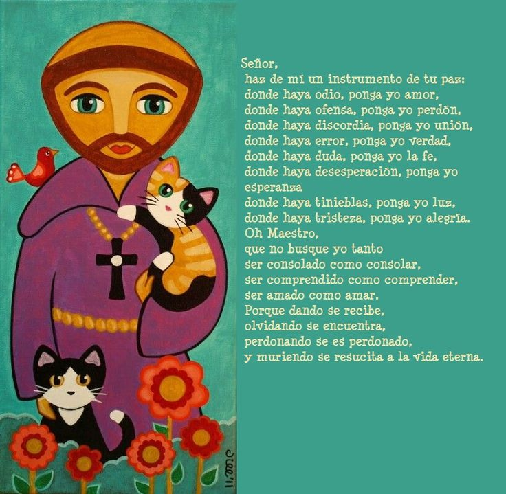 oracion de la paz de san francisco de asis para los niños - Google Search