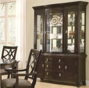 Inspirational Contemporary Espresso China Cabinet