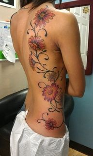 Gerber Daisy Tattoo Ideas | My daisy tattoo :) I'm going to go get this just maybe different flowers