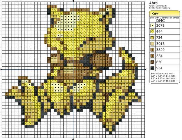 63 - Abra by Makibird-Stitching.deviantart.com on @deviantART