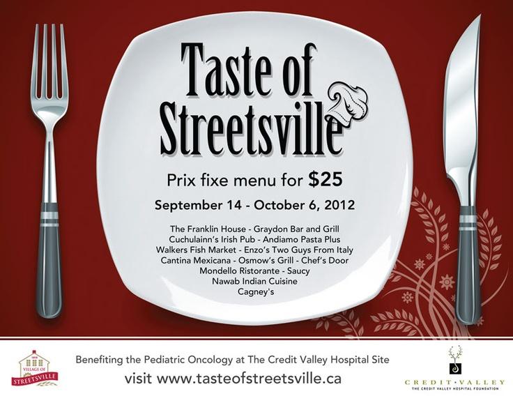 Taste of Streetsville | Sep 14 - Oct 6 2012