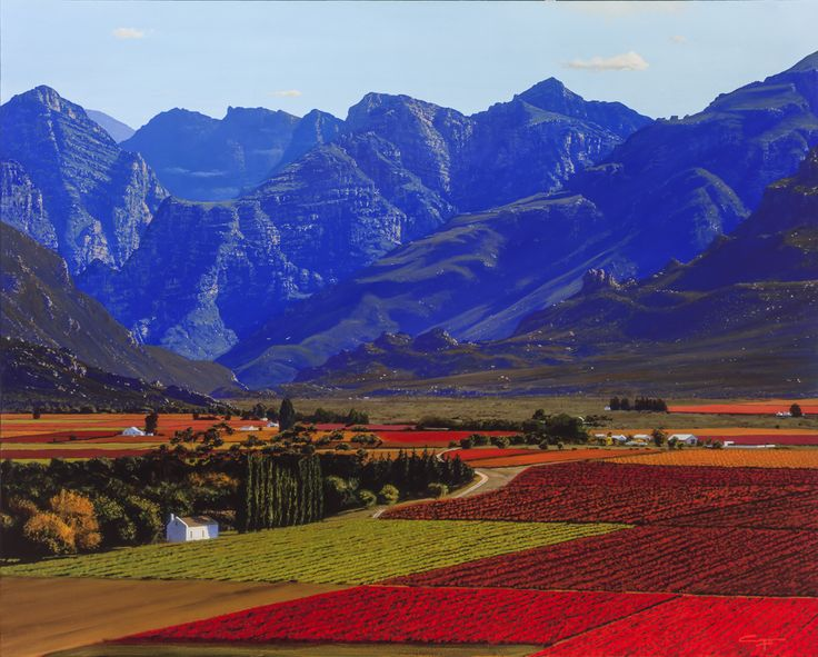 1000 images about western cape landscape paintings on for Landscape sa
