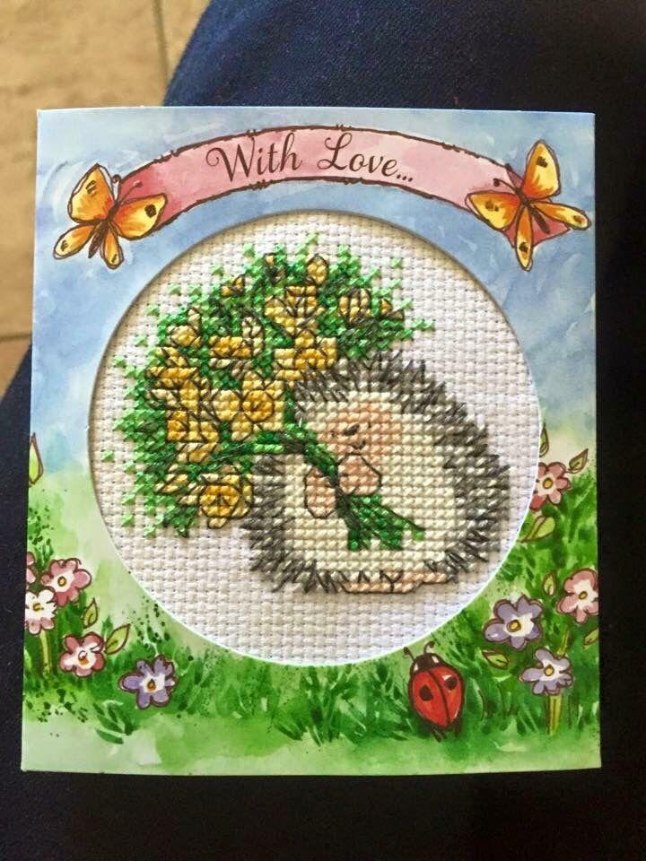 Springtime Hedgehog Card