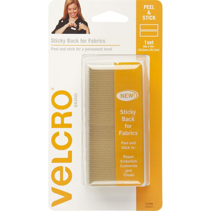 """VELCRO(R) Brand STICKY BACK For Fabric Tape 4""""""""X6""""""""-Beige"""