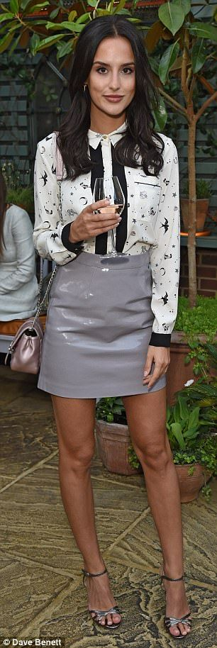 Sartorially savvy: Millie Mackintosh and Lucy Watson arrived in style at The Ivy Chelsea G...