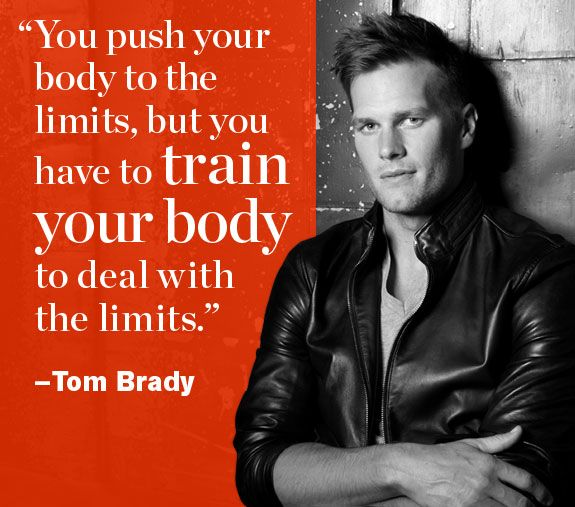 #NFL star, Tom Brady, shares his secrets to success. http://www.menshealth.com/best-life/motivational-quotes-nfl