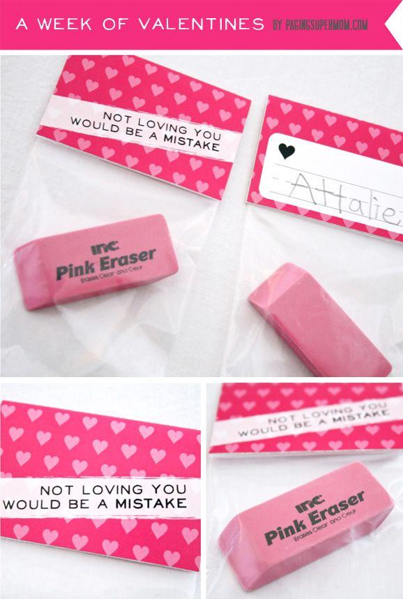 DOING! LOVE!: Holiday, Gift, School, Valentines, Eraser Valentine, Teacher S Favorite, Valentine S, Teachers, Friend