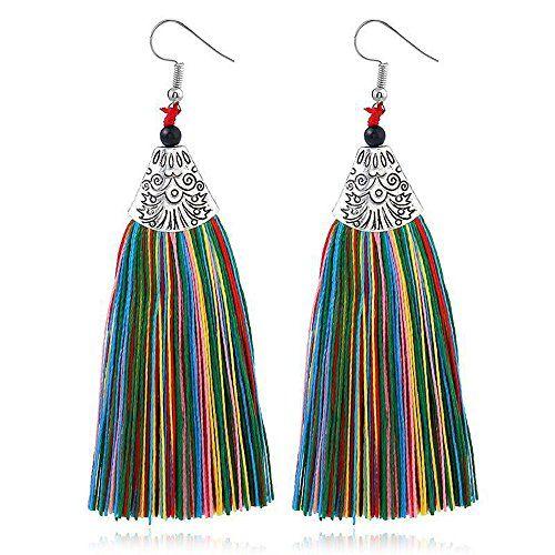 FASHION Feather Dangle Long Boucle d/'Oreille Femme Chandelier Pendants d/'oreilles pour cadeau